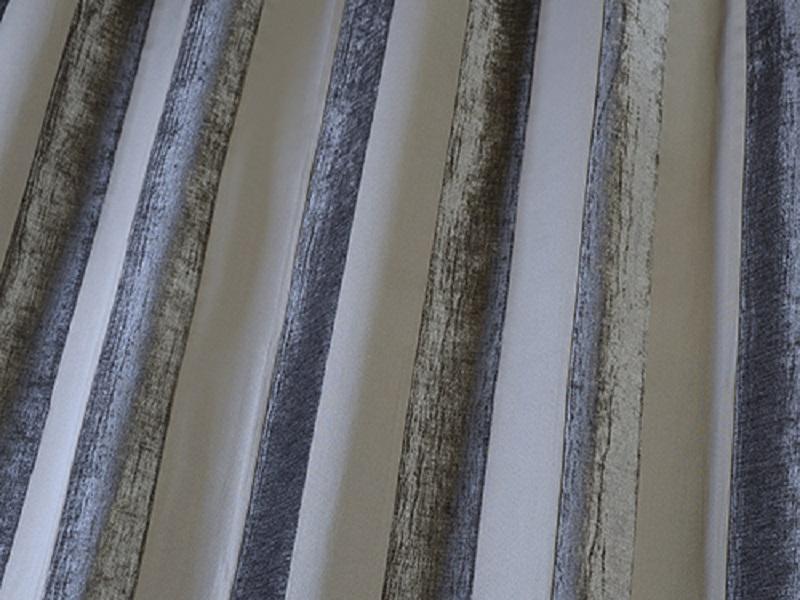 Iliv Boheme Stripe Velvet Curtain Fabric Granite