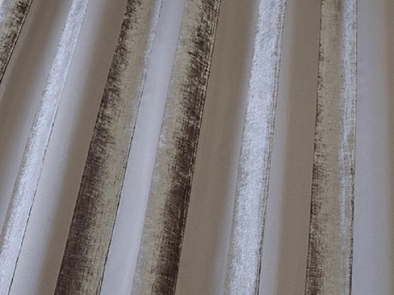 Iliv Boheme Stripe Velvet Curtain Fabric Mocha